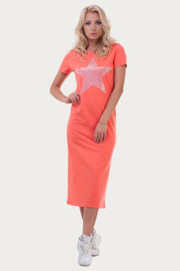 Спортивное платье  оранжевого цвета|интернет-магазин vvlen.com