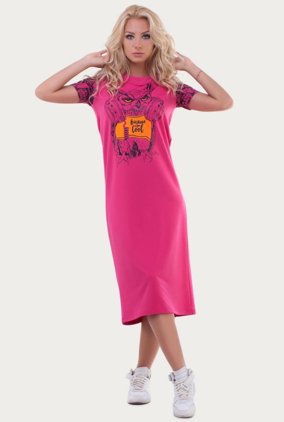 Спортивное платье  малинового цвета 6002|интернет-магазин vvlen.com
