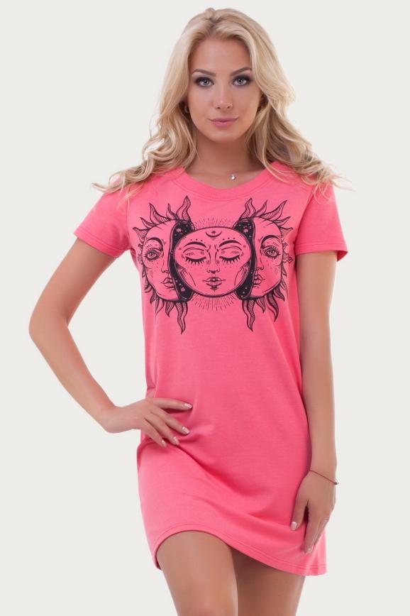 Спортивное платье  малинового цвета 6003|интернет-магазин vvlen.com