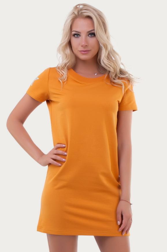 Спортивное платье  желтого цвета 6003|интернет-магазин vvlen.com