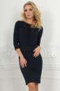 Офисное платье футляр темно-синего цвета 2517.47 No0|интернет-магазин vvlen.com