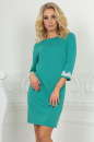 Повседневное платье футляр мятного цвета -2520.47|интернет-магазин vvlen.com