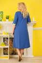 Летнее платье с расклешённой юбкой голубого цвета 2333.83 No1|интернет-магазин vvlen.com