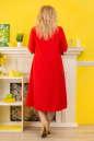 Платье с расклешённой юбкой красного цвета 2333.83 No1|интернет-магазин vvlen.com