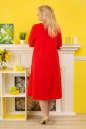 Платье с расклешённой юбкой красного цвета 2333.83 No2|интернет-магазин vvlen.com