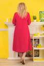 Летнее платье с расклешённой юбкой кораллового цвета 2333.83 No1|интернет-магазин vvlen.com