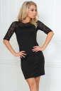 Коктейльное платье футляр черного цвета 2282.47 No0|интернет-магазин vvlen.com