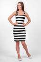 Повседневное платье майка полоски черной цвета 2370 .17d13|интернет-магазин vvlen.com