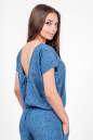 Блуза голубого с белым цвета 2374 .84d26 No2|интернет-магазин vvlen.com