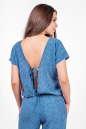 Блуза голубого с белым цвета 2374 .84d26 No3|интернет-магазин vvlen.com