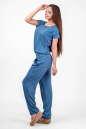 Блуза голубого с белым цвета 2374 .84d26 No5|интернет-магазин vvlen.com