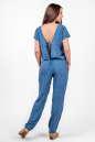 Блуза голубого с белым цвета 2374 .84d26 No6|интернет-магазин vvlen.com