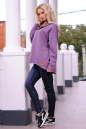Худи оверсайз сиреневого цвета  2405-1.79 No1|интернет-магазин vvlen.com