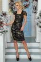 Коктейльное платье футляр черного цвета 2437-2.13 No1|интернет-магазин vvlen.com