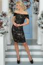 Коктейльное платье футляр черного цвета 2437-2.13 No2|интернет-магазин vvlen.com