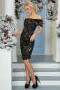 Коктейльное платье футляр черного цвета 2437-2.13 No3|интернет-магазин vvlen.com