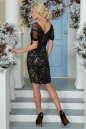 Коктейльное платье футляр черного цвета 2437-2.13 No4|интернет-магазин vvlen.com