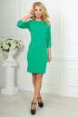 Офисное платье футляр зеленого цвета No1 интернет-магазин vvlen.com