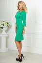 Офисное платье футляр зеленого цвета No2 интернет-магазин vvlen.com