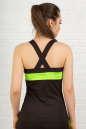 Топ для фитнеса черного с зеленым цвета No1|интернет-магазин vvlen.com