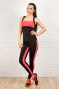 Топ для фитнеса черного с розовым цвета 2322.67 No3|интернет-магазин vvlen.com