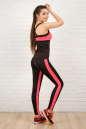 Топ для фитнеса черного с розовым цвета 2322.67 No4|интернет-магазин vvlen.com