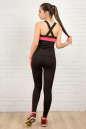 Топ для фитнеса черного с розовым цвета 2322.67 No5|интернет-магазин vvlen.com