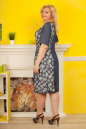 Платье-баллон синего тона цвета 2324.82 No2|интернет-магазин vvlen.com