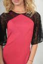 Коктейльное платье футляр розового цвета No4|интернет-магазин vvlen.com