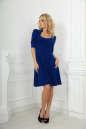Повседневное платье с расклешённой юбкой электрика цвета No1|интернет-магазин vvlen.com