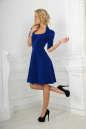 Повседневное платье с расклешённой юбкой электрика цвета No2|интернет-магазин vvlen.com