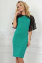 Коктейльное платье футляр зеленого цвета 2522.47|интернет-магазин vvlen.com