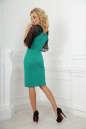 Коктейльное платье футляр зеленого цвета No2|интернет-магазин vvlen.com