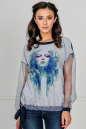 Блуза бирюзового цвета kl  179 No0|интернет-магазин vvlen.com