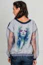 Блуза бирюзового цвета kl  179 No1|интернет-магазин vvlen.com