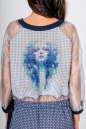 Клубное платье с расклешённой юбкой бирюзового цвета kl  185 No7|интернет-магазин vvlen.com