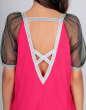 Клубное платье балахон малинового цвета kl  192 No3|интернет-магазин vvlen.com