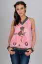 Блуза пудры цвета kl  1802 No0|интернет-магазин vvlen.com