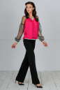 Блуза малинового цвета kl  182-183 No3|интернет-магазин vvlen.com