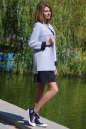 Жакет женский серого с черным цвета No1|интернет-магазин vvlen.com