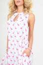 Летнее платье балахон белого цвета No4|интернет-магазин vvlen.com