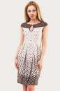 Летнее платье с юбкой тюльпан бежевого цвета 1554.33 No0|интернет-магазин vvlen.com