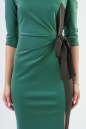 Коктейльное платье футляр зеленого с черным цвета 2582.47 No4|интернет-магазин vvlen.com