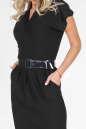 Офисное платье с юбкой тюльпан черного цвета 1634.14 No1 интернет-магазин vvlen.com