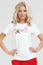 Женская футболка белого цвета |интернет-магазин vvlen.com