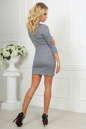 Повседневное платье футляр серого цвета 2218-1.92 No5|интернет-магазин vvlen.com