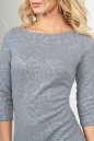 Повседневное платье футляр серого цвета 2218-1.92 No7|интернет-магазин vvlen.com