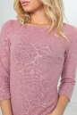 Повседневное платье футляр розового цвета No5|интернет-магазин vvlen.com