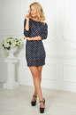 Повседневное платье футляр синего в горох цвета 2218-2.45d5 No1|интернет-магазин vvlen.com
