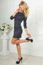 Повседневное платье футляр синего в горох цвета 2218-2.45d5 No2|интернет-магазин vvlen.com